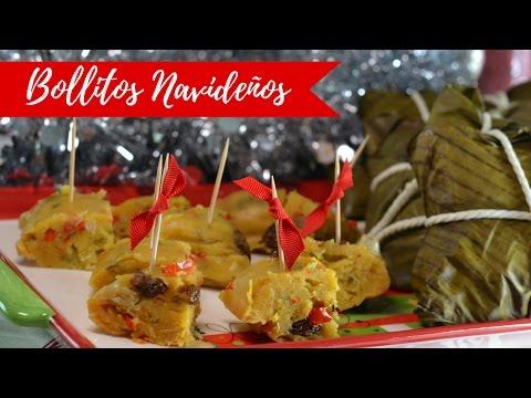 Bollitos Navideños - Tamal Navideño - Hallaca Vegetariana