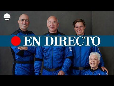 DIRECTO JEFF BEZOS | Primer vuelo tripulado de la compañía Blue Origin