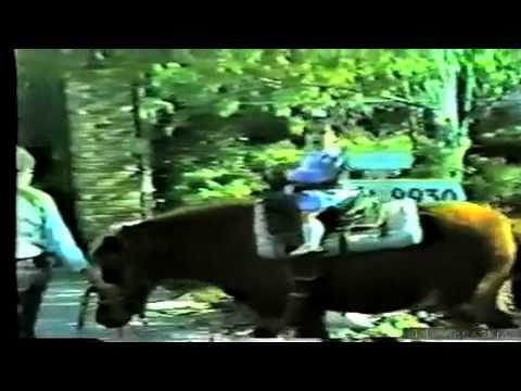 Baby Kim Kardashian Riding a Horse