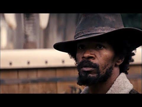 Un negro a caballo (escena) Django desencadenado