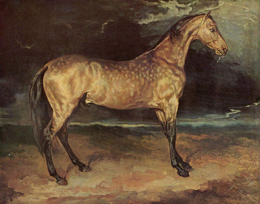 Caballo pintado por Théodore GéricaultCaballo pintado por Théodore Géricault