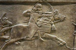 Hombre a caballo Mesopotamia