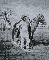 Quirpa hombre a caballo