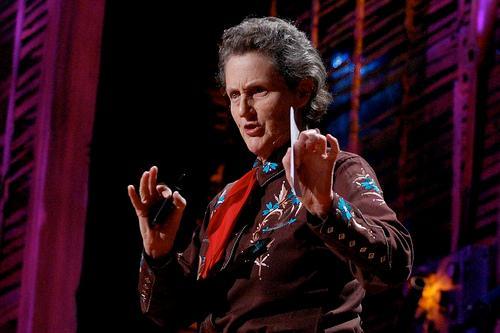 Temple Grandin dictando una conferencia