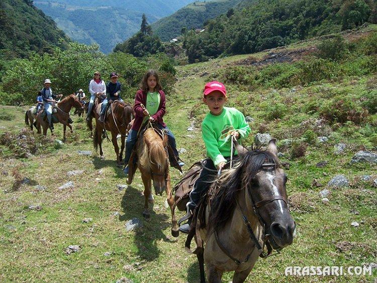 Gustavo pasea a caballo en Timotes