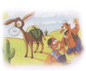 Los dos ladrones y el borrico