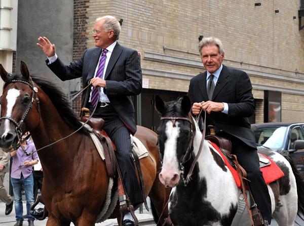 David Letterman y Harrison Ford - Celebridades amantes de los caballos