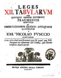 La ley de las XII tablas