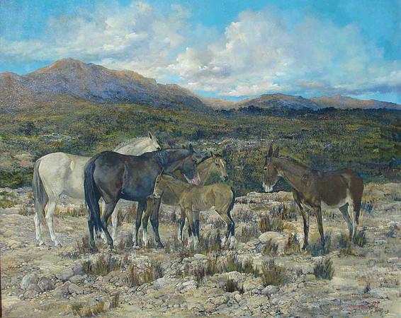 Pintura de caballos de Hugo Diez