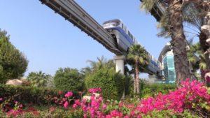 Metro monorriel de Palma Jumeirah de Dubái