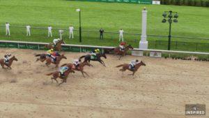 Secretariat ganador de la carrera virtual