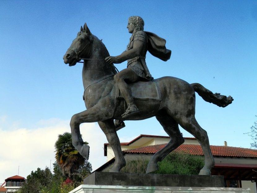 Bucéfalo y Alejandro Magno