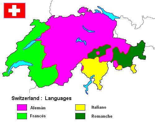 idiomas oficiales de Suiza