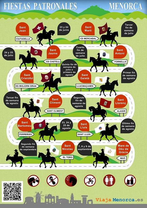 Cronograma de las fiestas de Menorca